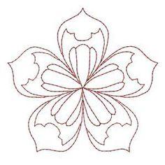 Redwork Mandala