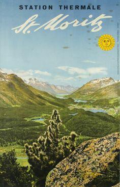 St. Moritz, station thermale - Galerie 123 - Original Vintage Posters
