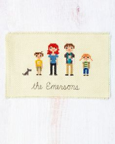 Customizable Cross-stitch How-to | Martha Stewart Living.  I love the idea of creating personalized cross-stitch ornaments for friends and family, but the Cross-Stitch Family Portrait is by far the most personal, thoughtful version.  I'd love to make this for my family.