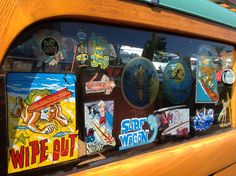 We all need a surf wagon.in heaven we all have one! Old school surf stickers My other ride is a 47 Plymouth Surf Stickers, Vintage Windows, Station Wagon, Plymouth, Old School, Surfing, Decals, Heaven, Culture