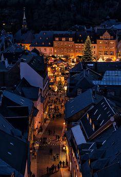 Romantischer Weihnachtsmarkt in Annaberg-Buchholz (Sachsen)