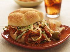 Pulled Chicken Sandwiches with Root Beer BBQ Sauce