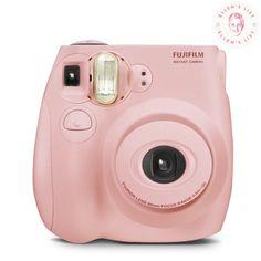 Fujifilm Instax Mini Instant Camera (with film) - Pastel Pink Polaroid Camera Instax, Heart Shaped Waffle Maker, Black Gold Bedroom, Fujifilm Instax Mini 7s, Instant Film Camera, Teen Girl Gifts, Vintage Cameras, Shopping Hacks, Digital Camera