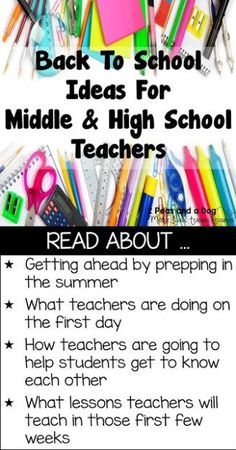 New and exciting back to school ideas and activities for middle and high school teachers from the 2 Peas and a Dog blog.