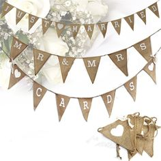 Mr & Mrs Wedding Photo Props Vintage Banner Jute Burlap Bunting Just Married Rustic Garland Party Hanging Decoration(China (Mainland)) Vintage Banner, Hessian Bunting, Bunting Banner, Wedding Bunting, Rustic Wedding, Mr Mrs, Cheap Banners, Accessoires Photo, Wedding Photo Props