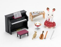 Sylvanian Families School Music Set 5106 Epoch Calico Critters for sale online Sylvanian Families, Calico Critters Families, Chocolate Rabbit, Baby Accessoires, Vintage Box, Music Lessons, Her Music, Kids Toys, Epoch
