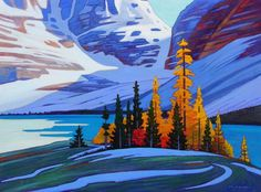 A collection of Paintings by Canadian Painter Nicholas Bott. Abstract Landscape Painting, Landscape Art, Landscape Paintings, Abstract Art, Painting Trees, Canadian Painters, Canadian Artists, Tree Art, Oeuvre D'art