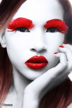 Red You are in the right place about makeup room ideas black Here we offer you the most beautiful pi Big Lashes, False Lashes, Fantasy Make Up, Red Makeup, Makeup Stuff, Makeup Art, Hair Makeup, Makeup Rooms, Beauty Shots