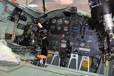 The cockpit of FHCAM's de Havilland Mosquito. Come see her fly at SkyFair 2017 on July 22nd!