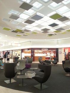 Kvadrat Soft Cells tiles & Philips luminous textile tiles-Labège Shopping Centre in Lyon