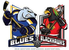 Western Conference Quarterfinal: St. Louis Blues vs. Chicago Blackhawks (Artwork by epoole88 on Tumblr) - Imgur