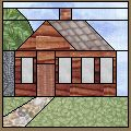 "Quilt Ideas for the ""Old Fashion Vintage Farmer's Wife"" ~Have A Blessed Day~~Log cabin house block: free paper pieced pattern. House Quilt Patterns, House Quilt Block, Paper Pieced Quilt Patterns, Quilt Block Patterns, Pattern Blocks, Quilt Blocks, Pattern Paper, Log Cabin Quilts, Log Cabin Homes"
