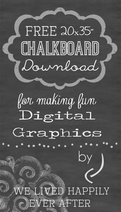 """Free 20x30"""" Chalkboard Background Download for Digital Graphics"""