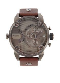 Diesel Men's watch DZ7258  Nice combi of the leather and metal!  #Diesel #watch #big