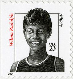 "Overcoming polio as a child, Wilma Rudolph became the first American woman to win three gold medals in the Olympics ""Believe me, the reward is not so great without the struggle."" I always am still wondering how I remember and then I realize I'm OLD. Wilma Rudolph, Women In America, Commemorative Stamps, Black History Facts, Women In History, Ancient History, African American History, Stamp Collecting, Postage Stamps"