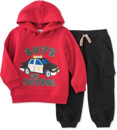Kids Headquarters Little Boys' 2-Pc. Fleece Hoodie & Pants Set