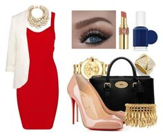 """""""Untitled #458"""" by kolo-k on Polyvore featuring Posh Girl, Movado, Marina B, Mulberry, Kate Spade, Christian Louboutin, Henri Bendel, Yves Saint Laurent, Essie and women's clothing"""