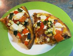 A Squared: What's For Dinner Wednesday: Spicy Smoky Flatbread with Bacon & Veggies