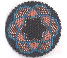 STAR MANDALA FOR REALLY, REALLY ROUND PEYOTE, not free pattern.