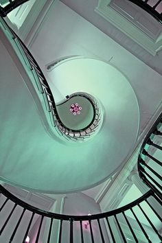 Mint Green Spiral Staircase