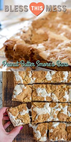 The most amazing cookies bars you've ever eaten! Rich and decadent Peanut Butter S'mores Bars made with a simple cookie-dough-graham-cracker crust, peanut butter, chocolate, and marshmallow creme. Peanut Butter Cookie Recipe, Cookie Recipes, Dessert Recipes, Dessert Ideas, Matcha, Delicious Desserts, Yummy Food, Easy Desserts, Chocolate Oatmeal Cookies