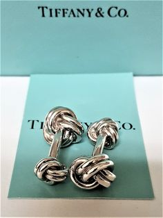 TIFFANY+AND+CO.+CUFFLINKS+~+DOUBLE+KNOT++~+EXCELLENT+~+READY+TO+WEAR+!
