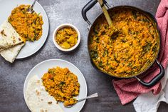 Spicy Lentil Curry with Spinach