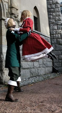 APH - Dance by TINNERI.deviantart.com on @deviantART - Vash and Lotte (head-canon name for Liechtenstein) cosplay, uploaded by the Lotte cosplayer