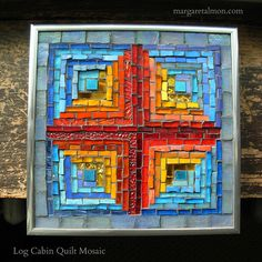 Log Cabin Quilt Mosaic by Margaret Almon