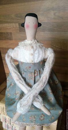 Купить Барышня - кукла Тильда, новая тильда, tilda homemade doll, кукла ручной работы