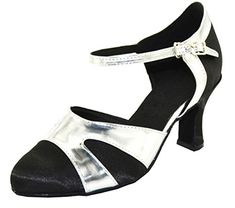TDA Womens Single Strap Round Toe Black Satin Mid Heel Strappy Buckle Latin Dance Shoes 10 M US -- You can find out more details at the link of the image.(This is an Amazon affiliate link and I receive a commission for the sales)