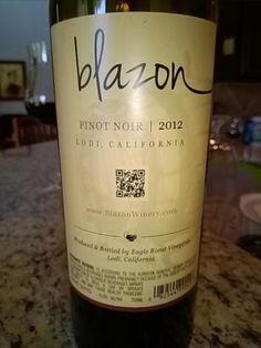 Blazon Pinot Noir 2012 - Lodi