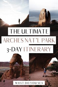 Keen on what are the best trails and sites for your Arches National Park itinerary? Follow this guide to maximize your 3 days in this stunning National Park! Plus, get a free, downloadable map to have on hand while you explore! Travel Guides, Travel Tips, Travel Advise, Usa Travel, Canada Travel, Us National Parks, Best Hikes, United States Travel, Images Gif