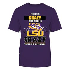 LSU Fighting Tigers Crazy Fans T-Shirt, *Officially Licensed LSU Tiger Clothing and Gifts * Welcome to Death Valley and experience the Fighting Tigers Football team in action. Everyone knows that LSU college fans are difference, in all of NCAA college sports LSU stands alone in being loyal, true and obsessive.  Cheer on your LSU... The LSU Tigers Collection, OFFICIAL MERCHANDISE  Available Products:          Gildan Unisex T-Shirt - $25.95 District Men's Premium T-Shirt - $27.95 District…