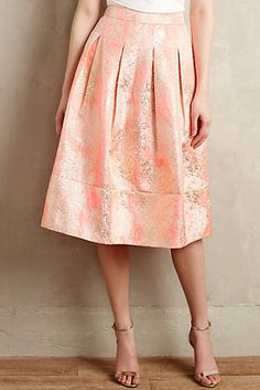 Blushing Blooms Midi Skirt #anthroregistry