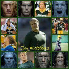 Mmmmmmm, Clay Matthews. Like the shaven look more than his full beard. Can't c him now. Lol