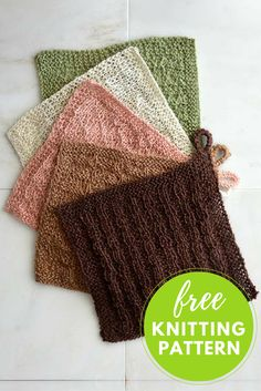Stitch Sampler Wash Cloths Free Knitting Pattern
