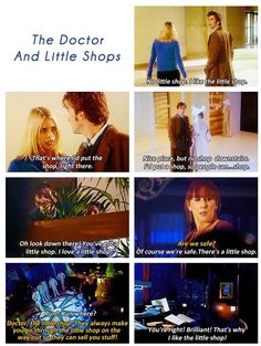 Little Shops!! David Tennant. Doctor Who, It is funny how the Doctor makes plans for his future self. IF he were to get stuck in a certain building he wants a little shop to know how to get out. lol!
