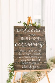 Unplugged Wedding Sign, Unplugged No Cell Phones Ceremony Sign, Rustic Wood Wedd. Unplugged Wedding Sign, Unplugged No Cell Phones Ceremony Sign, Rustic Wood Wedding Sign - Romantic Wedding Decor - Wedd. Unplugged Wedding Sign, Wedding Ceremony Signs, Romantic Wedding Receptions, Wooden Wedding Signs, Wedding Ceremony Decorations, Romantic Weddings, Unique Weddings, Diy Wedding, Wedding Ideas