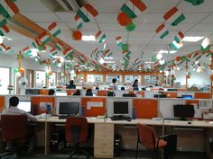 Independence day decoration @ Infodart Gurgaon location.