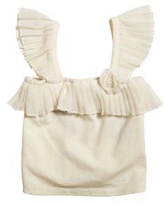 Pleat Sleeve Cami - Bardot Junior