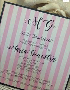 Victoria Secret Themed Bridal Shower Invitation | Themed bridal ...