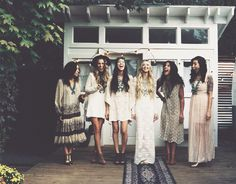My bridesmaids each wore a squash blossom and they were perfect.