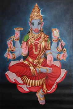 Varahi is the Senapathi (Knight) of Shri Lalita Devi and is a very powerful and active Goddess who destroys evil forces, removes negativity, protects spiritual aspirants, and grants wishes. Worshipping her on new Moon blesses one with expertise in various skills (talents), success and wealth. varahi