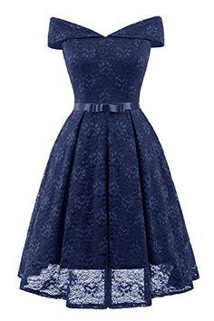 Aibwet Women's Vintage Dresses Floral Lace Off Shoulder Boat Neck Cocktail Formal Swing Dress,  #Clothing #Clothing,ShoesandJewelry #Dresses #Shops #Women, #fashion #womensfashion #women #trending #trendinginamerica