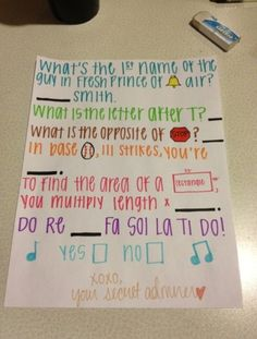 Cute way to ask someone out