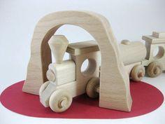 Wooden Toy Train Tunnel Bridge by GreenBeanToys on Etsy, $12.00