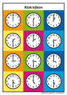 <h1>Klokkijken met Frokkie en Lola deel 2</h1>Oefen het klokkijken met de werkbladen van Frokkie en Lola. Clock Worksheets, Baby Food Combinations, Little King, Clock For Kids, School Frame, Borders And Frames, Thing 1, Ways To Save, Diy For Kids