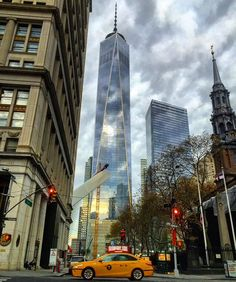 Photos and videos by A Great Big City ( The Freedom Tower, One World Trade Center, I Love Ny, Famous Landmarks, September 11, City Lights, First World, New York City, Times Square