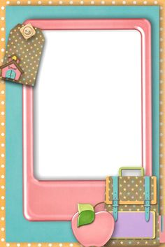Back to School - Larry Derose - Picasa Web Albums Scrapbook Frames, School Scrapbook, Scrapbook Embellishments, Borders For Paper, Borders And Frames, School Border, Page Borders Design, School Frame, School Clipart